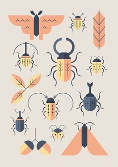 Sotto le foglie on Behance in Icons, Symbols & Pictograms