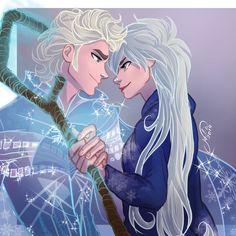 Jelsa by juliajm15 on deviantART | Frozen's Elsa and Rise of the Guardians' Jack Frost Genderbender