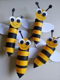 basteln mit klopapierrollen diy ideen deko ideen basteln mit kindern bienen