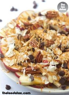 Snack for a Group -- Apple Nachos --  Amazingly Delicious yet Healthy!
