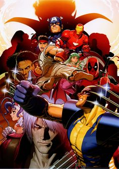 marvel vs. capcom 3 - promotional art (shinkiro)