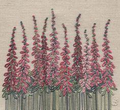 Jo Butcher, Embroidery Artist - Foxgloves