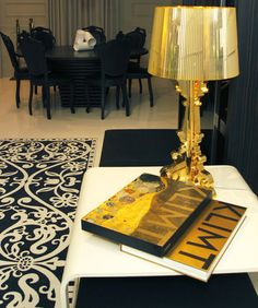 Gold Bourgie Lamp
