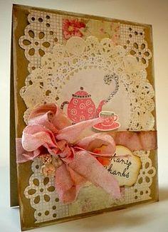 Gabi's Card - my Martha Stewart punch... pretty!