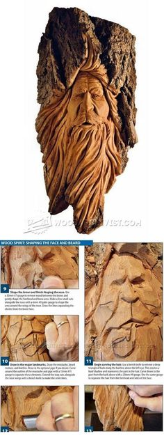 Wood Spirit Carving - Wood Carving Patterns and Techniques | WoodArchivist.com