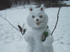 snowman photos  | Ето я и снежната котка: