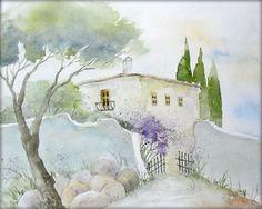 """Kleine Finca"" - Aquarell / Watercolor - 24 x 30 cm"