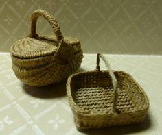 Miniature picnic basket and utility basket