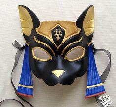 I found 'Egyptian Goddess Bastet Leather Mask by on Etsy' on Wish, check it out! Egyptian Mask, Egyptian Costume, Costume Manga, Bastet, Leather Mask, Venetian Masks, Mask Design, Cat Art, Fantasy