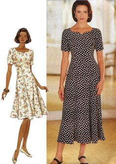 Butterick Sewing Pattern 3244 Misses Dress Petite Fast & Easy Sizes 6-8-10 Uncut