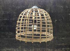 Bamboo basket wicker pendant lightbamboo woven shade hanging