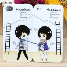 Japanese Cartoon iPhone 4/4s Hard Plastic Cases for Lover & Couple – Valentine's Day Gifts | Valentine Shop Online