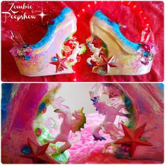 Rose Manchester needs these stat! ZombiePeepshow shoes seen on Offbeat Bride
