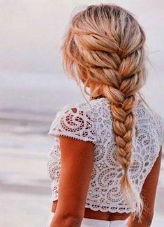French Braid Hairstyles Tutorial For Beach Hair Look