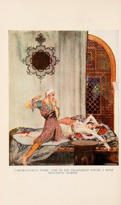 More Tales from the Arabian Nights. Translated by E.W. Lane and edited by F. J. Olcott. Illustrated by Willy Pogany. Published by Holt, New York. 1915