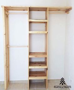 Ideal to give order in small spaces. Closet Bedroom, Home Bedroom, Bedroom Decor, Bedrooms, Closet Storage, Closet Organization, Diy Wood Projects, Home Projects, Ideas Armario