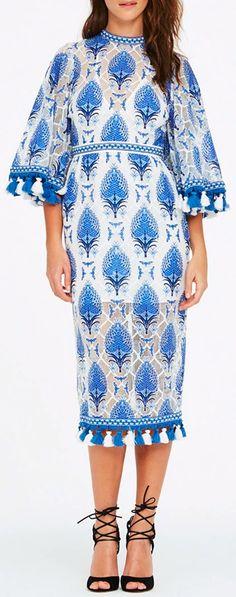 ALICE MCCALL Memphis Palm Burnout Dress