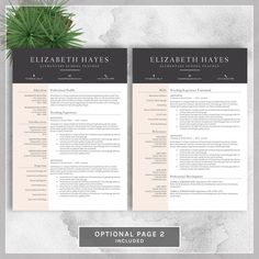 Professional Resume Template Free Cover By Polishedresumedesign