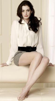 Read 'Anne Hathaway Has Low Self-Esteem' on Empire's movie news. We doubt Anne Hathaway's ego is suffering too much right now, given her . Beautiful Celebrities, Gorgeous Women, Beautiful Legs, Beautiful Actresses, Simply Beautiful, Absolutely Gorgeous, Beauty And Fashion, Womens Fashion, Fashion 2014