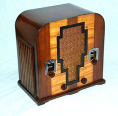 Antique Deco Crosley Wood Tombstone Tube Radio Completely Restored Warranty | eBay