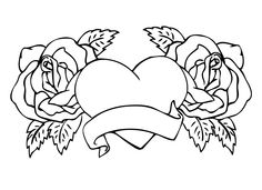 beautiful rose heart valentine coloring pages   Coloring Sheets ...