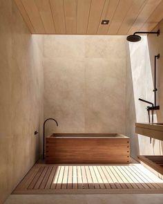 Bathroom Inspiration | Nobu Ryokan Malibu | #design #interior #inspo #accommondation Bad Inspiration, Bathroom Inspiration, Interior Inspiration, Bathroom Ideas, Bathroom Designs, Bathroom Organization, Bathroom Storage, Home Design, Art Design