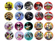 20 Power Rangers Dino Charge Edible Image Cookie or Cupcake Topppers Frosting Sheet >>> To view further for this item, visit the image link.