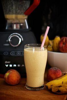 Reto Oster Smoothie, Smoothie de coco, melocotón y plátano