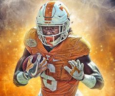 Alvin Kamara Tennessee Volunteers Football, Tennessee Football, University Of Tennessee, Football And Basketball, Football Helmets, Alvin Kamara, Orange Country, Go Vols, Football Pictures