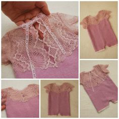 Newborn Romper Prop Lilac Lace Girl Romper by LovelyBabyPhotoProps