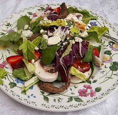 Steak and Strawberry Salad.  Used the steak marinade tonight (for a different salad) and we really liked it.