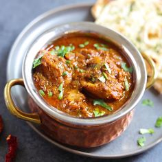 Authentic Goan Chicken Vindaloo made in the Pressure Cooker. Enjoy this dairy-free & gluten-free Chicken Vindaloo with rice or naan for a satisfying dinner! Veg Recipes, Curry Recipes, Indian Food Recipes, Cooking Recipes, Kerala Recipes, Goan Recipes, Indian Foods, Recipies, Poulet Vindaloo