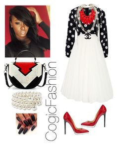 Communion Sunday!!! by cogic-fashion on Polyvore featuring polyvore fashion style Alberta Ferretti Christian Louboutin Nordstrom Chanel clothing