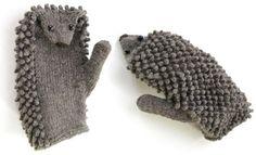 hedgie mittens.. awww