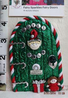 Elf on the Shelf OOAK Christmas Fairy Door from Fairy Sparkles CD214   eBay