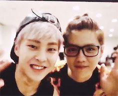 EXO OLDEST MEMBERS. XIUMIN LUHAN. MY BABES. | via Tumblr | We Heart It