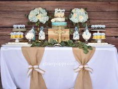 Laura Cristina with Glitter Poppy's Baptism / Rustic Baptism - Photo Gallery at Catch My Party
