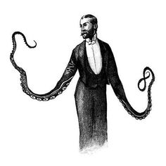 Tentacled Victorian Illustrations - Dan Hillier Replaces People's Appendages with Squid Limbs (GALLERY)