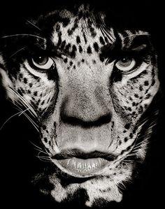 Mick Jagger as half-man half-leopard