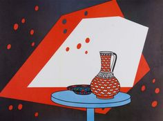 Patrick Caulfield (1936-2005): Red and White Still Life, 1966