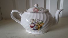Arthur Woods Son Stafforshire Englannd Teapot with Apples 6361 | eBay
