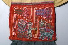 20th C. Panamanian Garment with 2 Molas