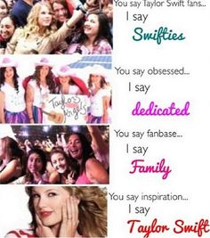 Swiftie and proud.