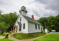 Old Mission Lighthouse on Mission Point in Michigan. By Gary Syrba