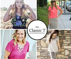 Introducing the 'Classic T' to my boutique. I love this shirt for tucking into skirts, or you could knot it too. Great for layering or with a pair of jeans.  Check out LuLaRoe Marie Navara on Facebook to see my latest inventory,