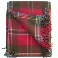 Beautiful muted Autumnal tones feature in this soft and warm MacLean of Duart Weathered lambswool tartan blanket. Maclean Tartan, Tartan Throws, Scottish Tartans, Cushions, Pillows, Autumnal, Home Textile, Cosy, Blankets