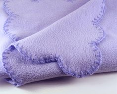 How to crochet an edge on a fleece blanket. (I want to make this for Jess Emerson- nobody else try it. lol)