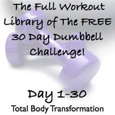 Another challenge. The Full Workout Library of The FREE 30 Day Dumbbell Challenge! 30 Day Fitness, Wellness Fitness, Fitness Motivation, Yoga Fitness, Fitness Quotes, Workout Fitness, Fitness Tips, 30 Day Challenge, Workout Challenge