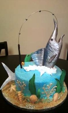 Blue Marlin Grooms cake The Future Mrs Kelly Jackson