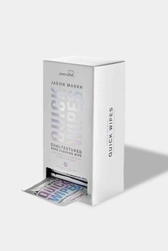 Jason Markk Quick Wipes - Box of 30 - Make sure that your trainers will always look good! Packaging Box, Skincare Packaging, Coffee Packaging, Cosmetic Packaging, Beauty Packaging, Product Packaging, Natural Tanning Oil, Wipes Box, Medicine Packaging